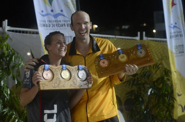 Lara Grangeon and Ryan Pini were the best-performing female and male swimmers of the Pacific Games meet