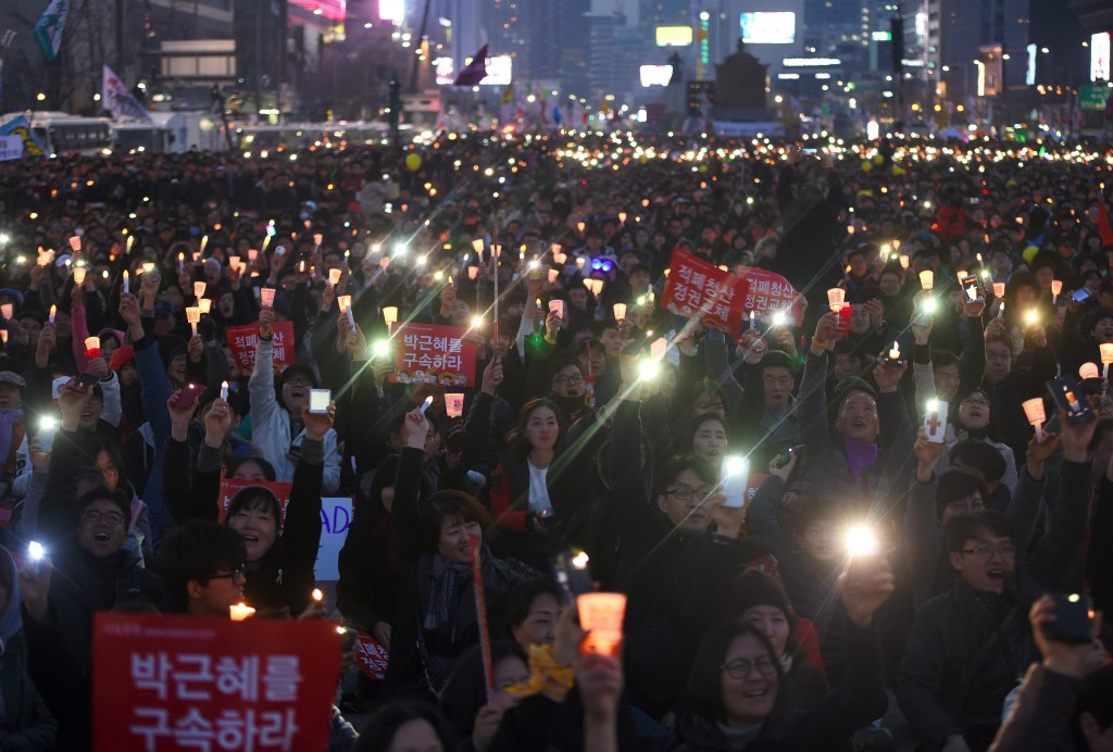 Protesters have taken to the streets of Seoul in recent days following the impeachment verdict which saw Park Geun-hye removed as the country's President ©Getty Images