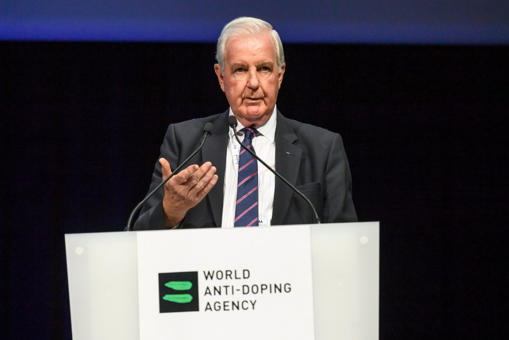 WADA President Sir Craig Reedie warned RUSADA still significant work to do in order to get its suspension lifted ©Getty Images