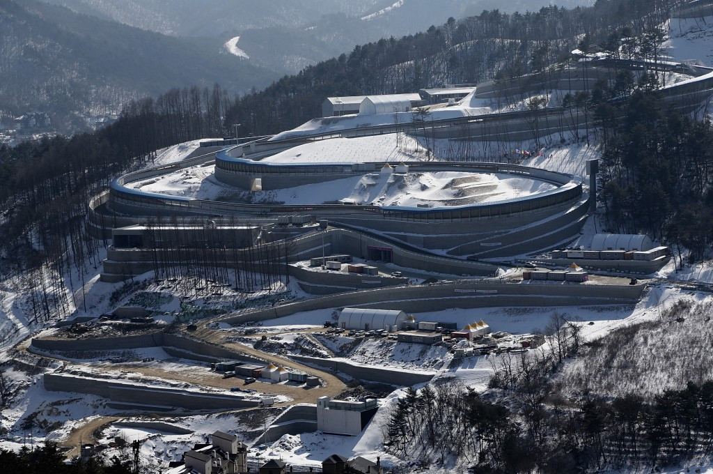 The Alpensia Sliding Centre has been praised by skeleton athletes before the test event begins ©Getty Images