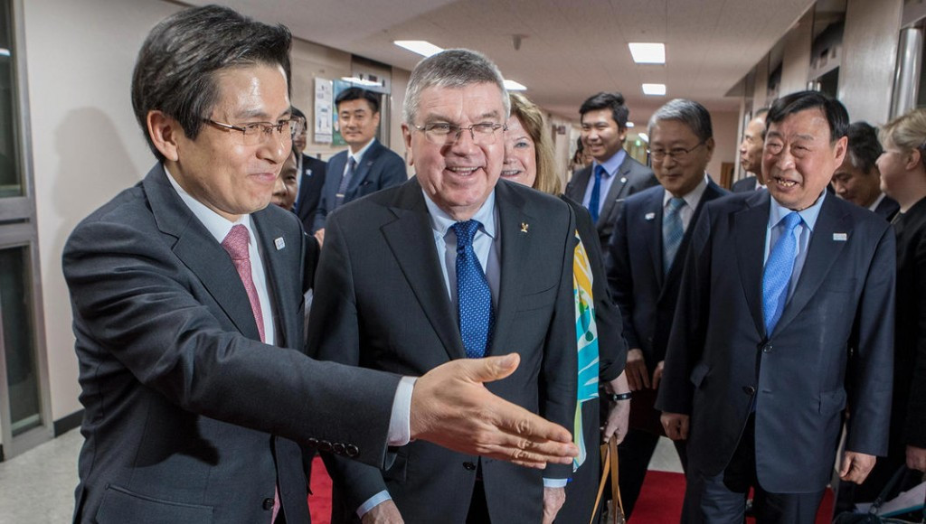 Bach tells acting South Korean President how Pyeongchang 2018 could unite country