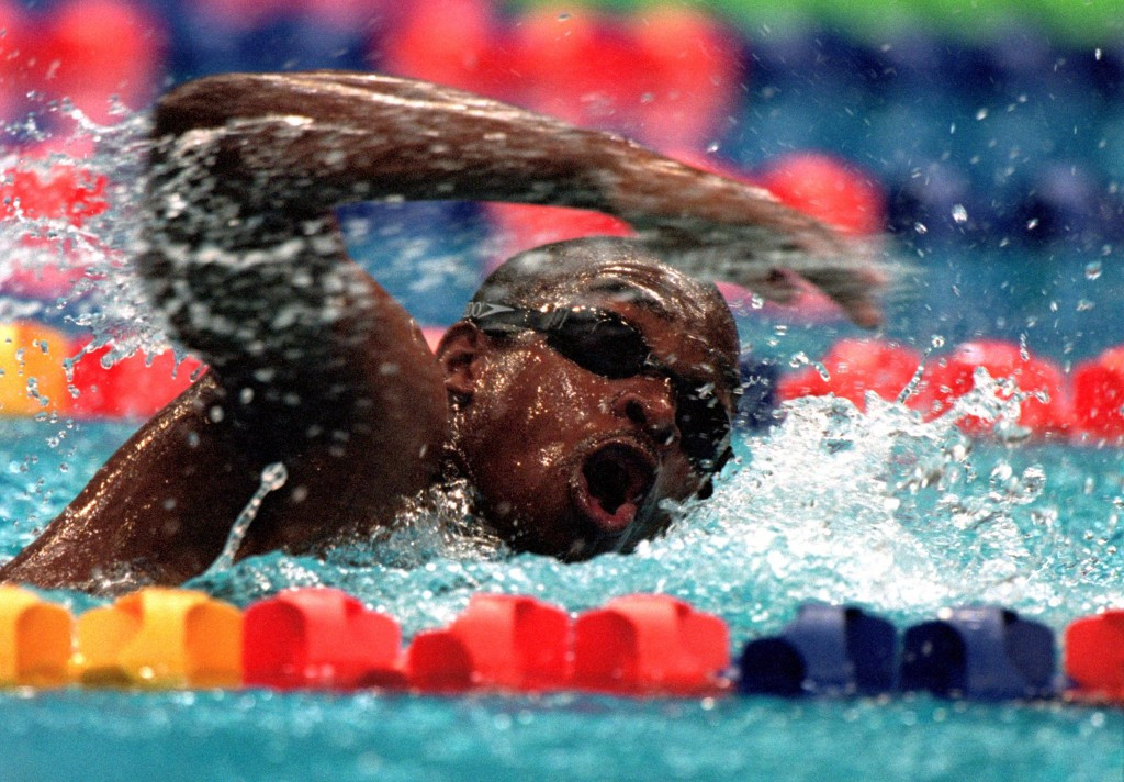 Eric ''The Eel'' Moussambani of Equatorial Guinea is an example of the Olympics boosting sport in a poor country ©Getty Images