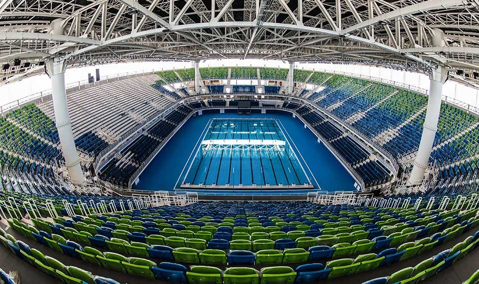 Myrtha Pools installed 18 pools for the Olympic Games in Rio de Janeiro ©Myrtha Pools