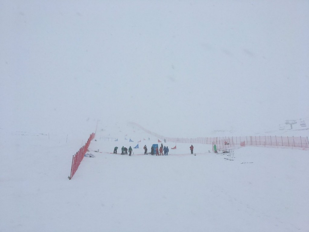 Heavy snow and strong winds forced organisers to rearrange competitions ©FIS