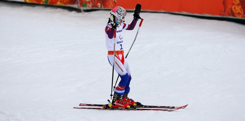 Henrieta Farkasova earned the overall visually impaired super-G spoils ©Getty Images