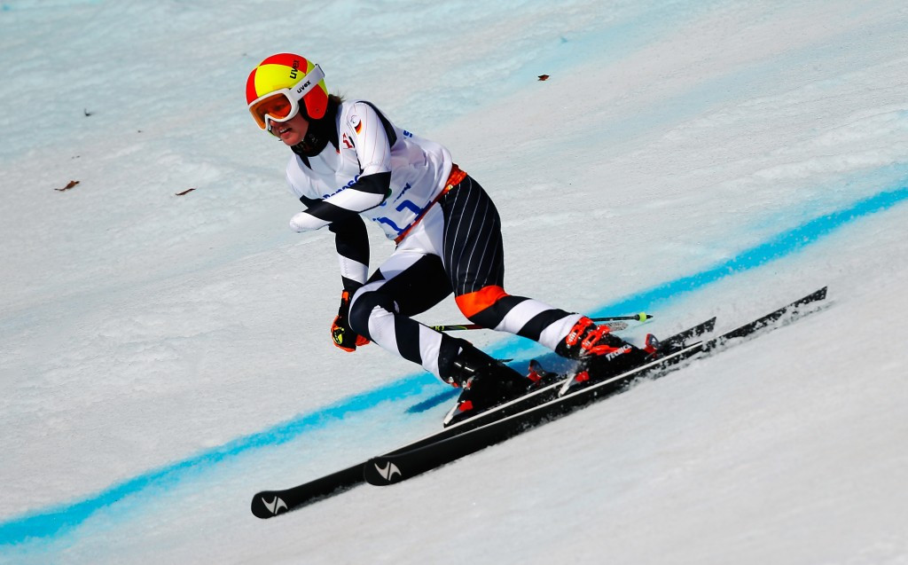 Andrea Rothfuss finished third today but did enough to secure the overall standing class super-G crown ©Getty Images