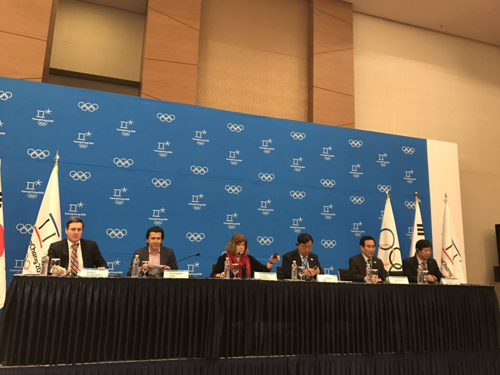 IOC officials praised Pyeongchang 2018 today but also suggested areas for improvement ©ITG