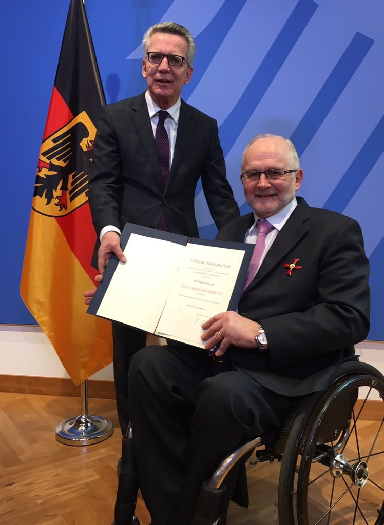 IPC President Sir Philip Craven has been awarded the Order of Merit of Germany ©Twitter