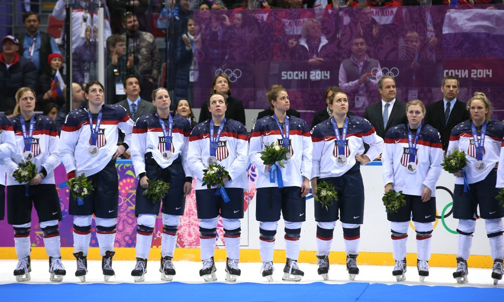 Defending champions the United States have threatened to boycott their home World Women's Ice Hockey Championship ©Getty Images