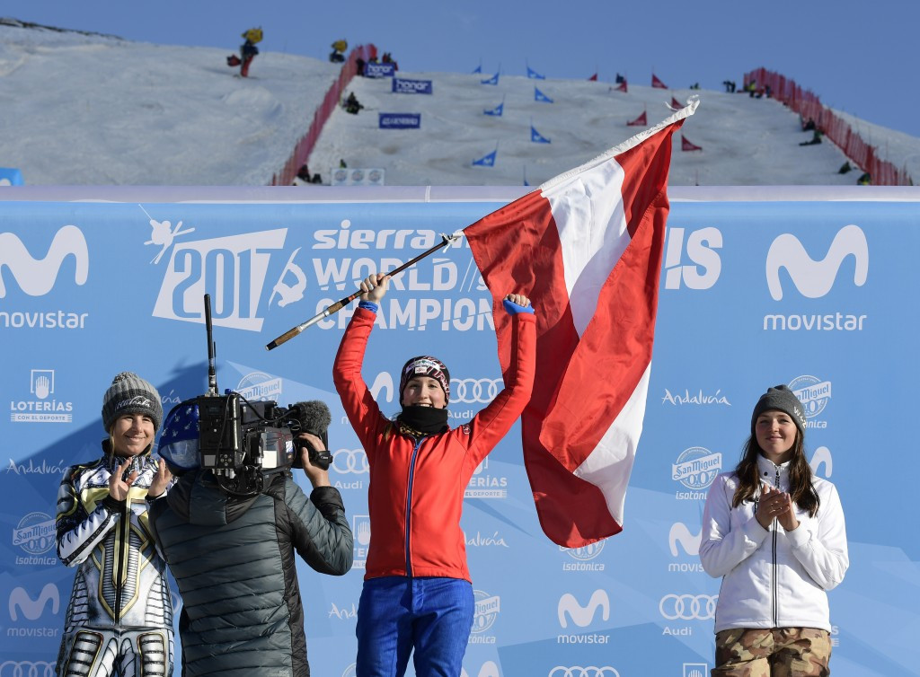Daniela Ulbing topped the podium in the women's competition ©Getty Images