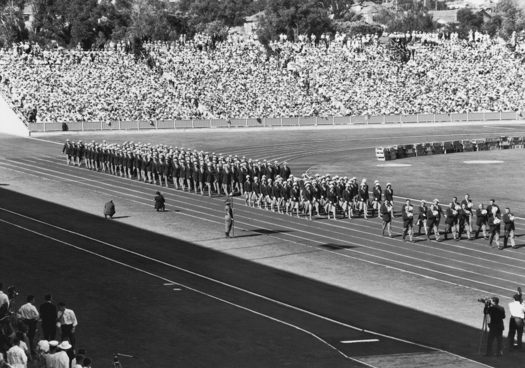 The Australian team pictured marching at the Opening Ceremony of the Perth 1962 Commonwealth Games ©Hulton Archive/Getty Images