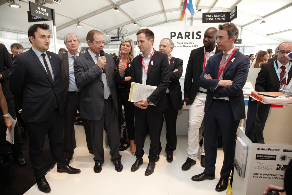 Paris 2024 have presented their technical plan at the MIPIM property exhibition ©Paris 2024