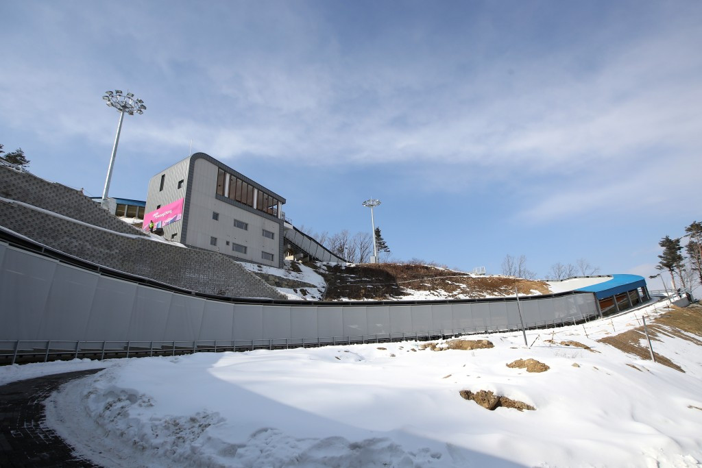 Athletes on the IBSF World Cup circuit are set to conduct the first competitive test of the track due to be used at next year's Winter Olympic Games in Pyeongchang ©Getty Images