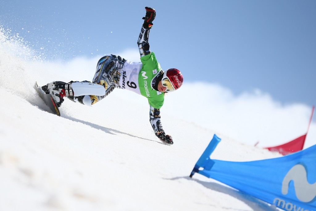 Ester Ledecka won the women's parallel giant slalom title for the second time ©Getty Images