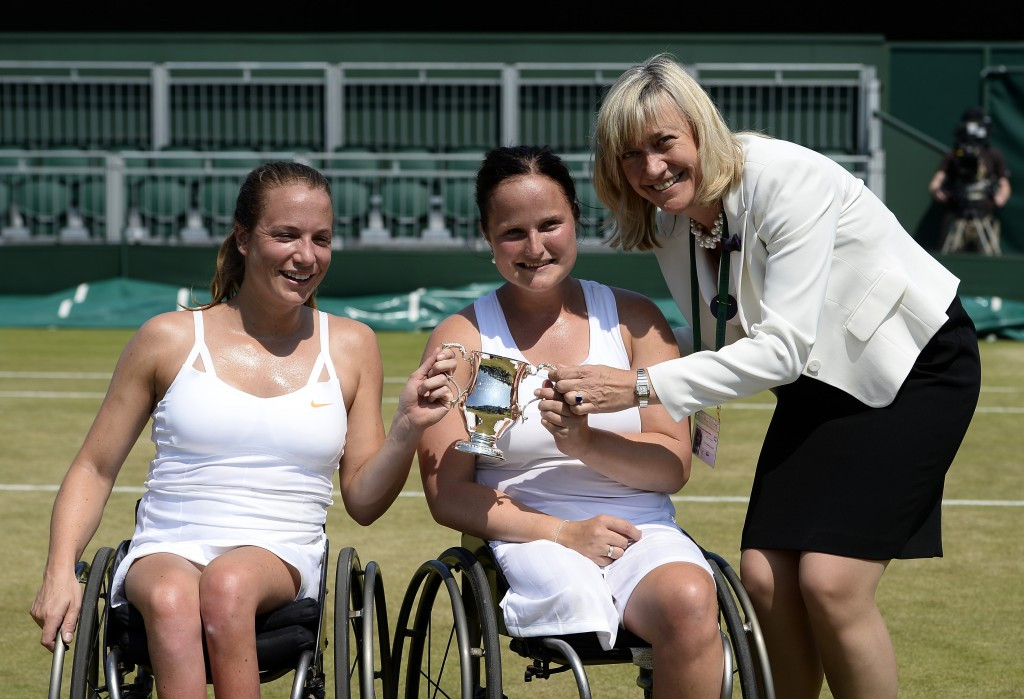 Jiske Griffioen and Aniek van Koot will be hoping to regain the Wimbledon ladies' wheelchair doubles they last won in 2013, their second triumph having also lifted the trophy in 2012