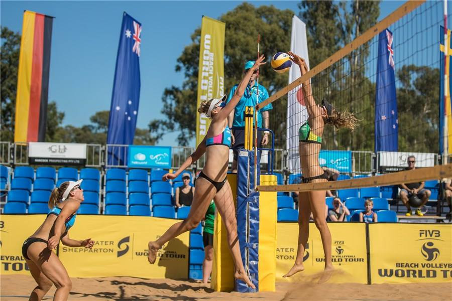 Bad weather not deterring FIVB World Tour event in Sydney