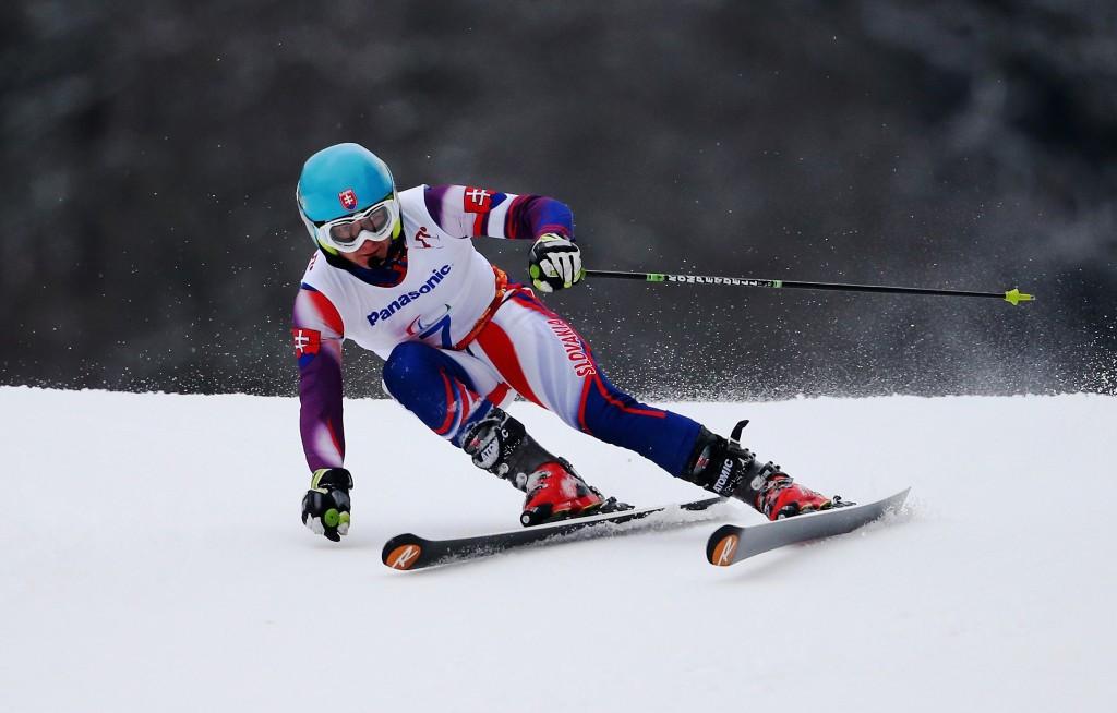 Jakub Krako of Slovakia won the men's visually impaired title alongside his guide Branislav Brozman ©Getty Images