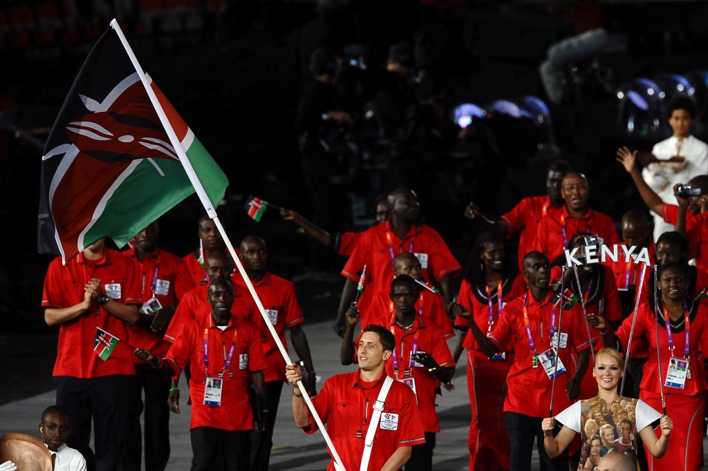 Kenya, pictured marching at the Opening Ceremony of London 2012, have avoided an IOC suspension ©Getty Images