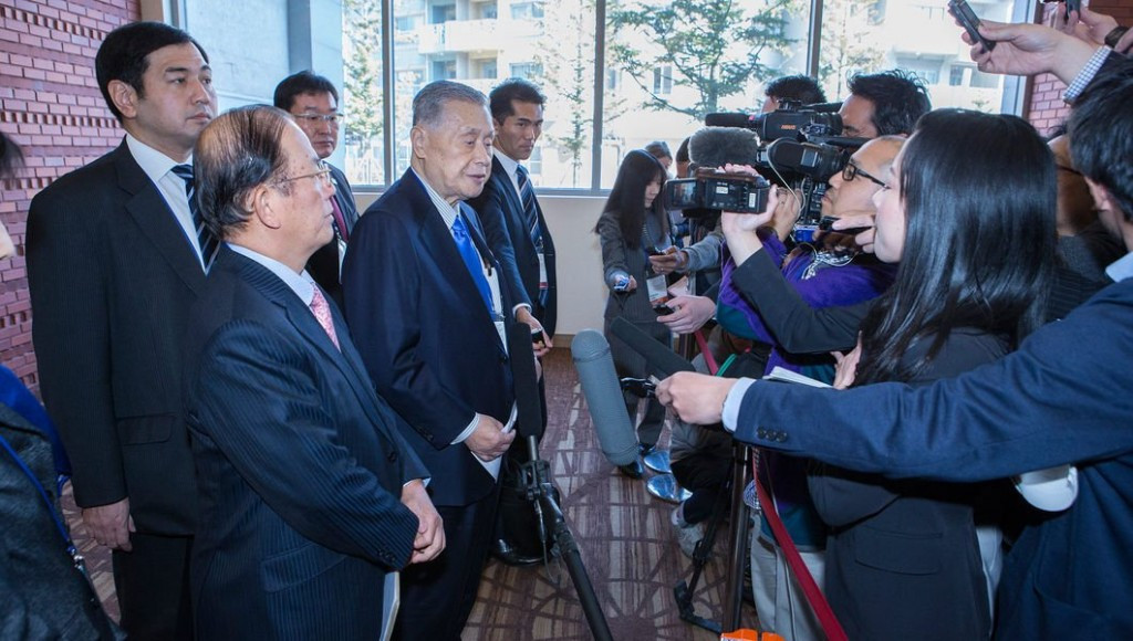 Tokyo 2020 Presidet Yoshirō Mori was present today at the IOC Executive Board meeting ©IOC