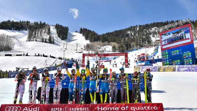 Sweden win team relay World Cup crown in Aspen