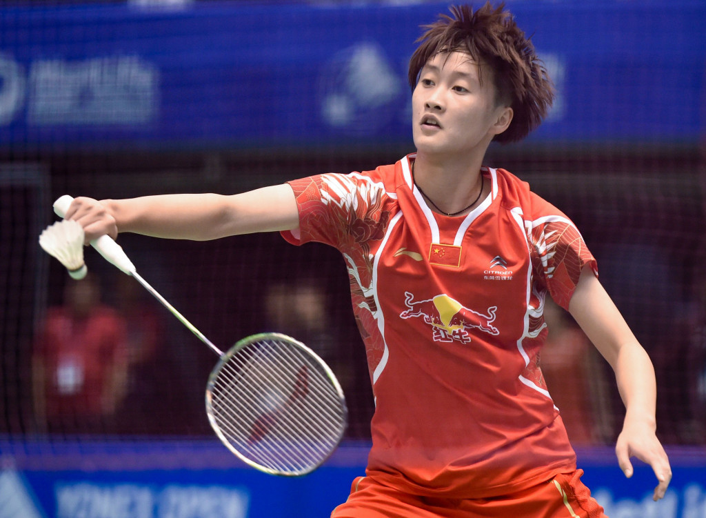 Women's top seed Chen Yu Fei of China came from a game down to win her first round match at the All England Championships ©Getty Images