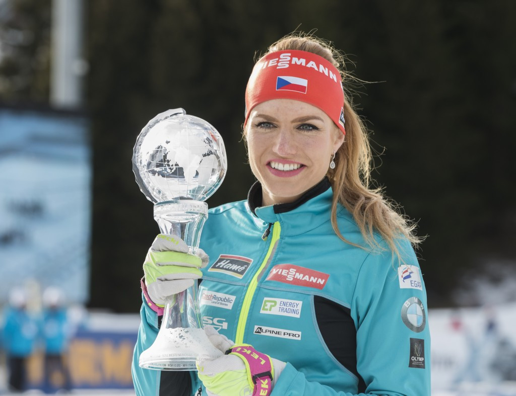 Koukalová bags biathlon sprint World Cup title after Dahlmeier shocker