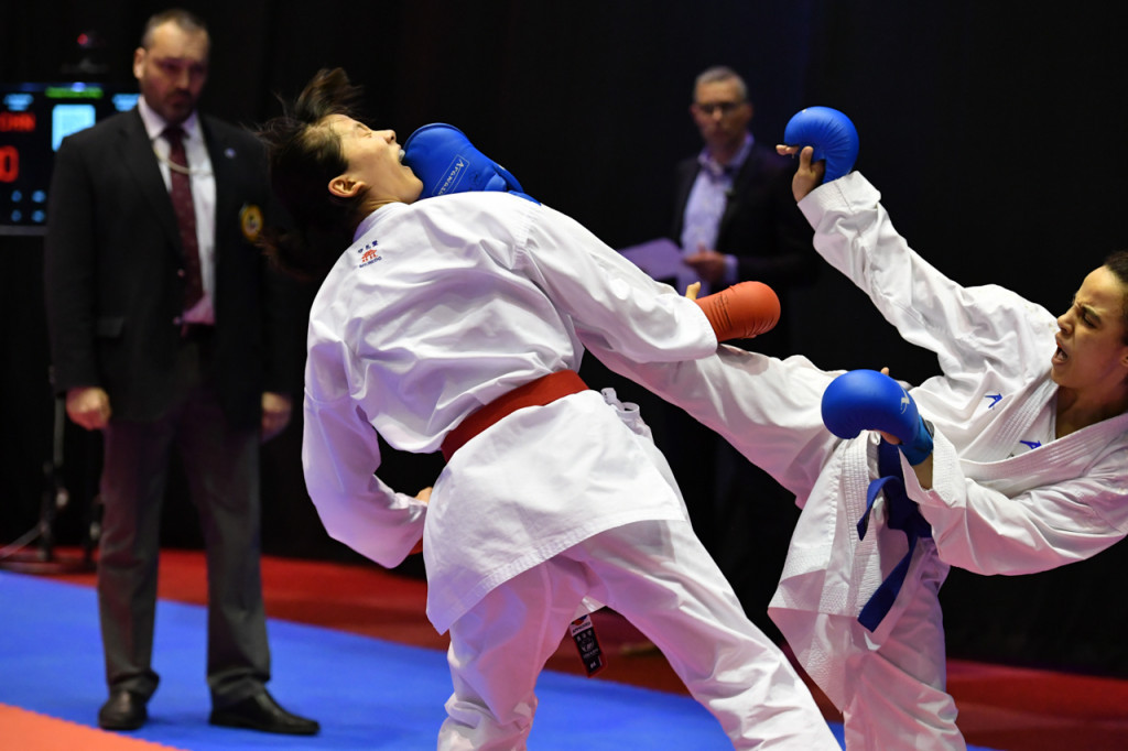 There was only one women's kumite category in action today ©WKF