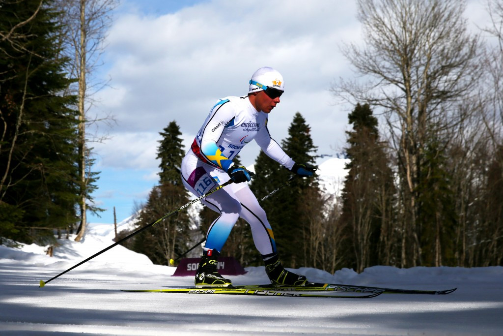 Zebastian Modin won the men's overall visually impaired title ©Getty Images