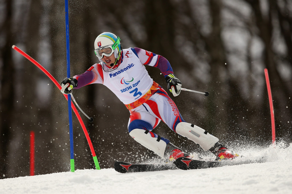 Mirolav Haraus won the men's visually impaired World Cup title after finishing second today in Pyeongchang ©Getty Images