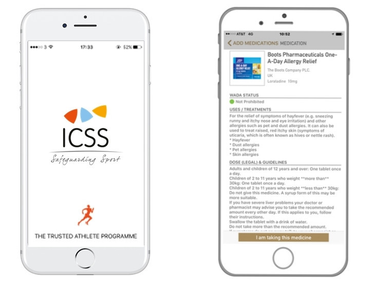 The ICSS has unveiled the development of a new mobile phone application called the Trusted Athlete App ©ICSS