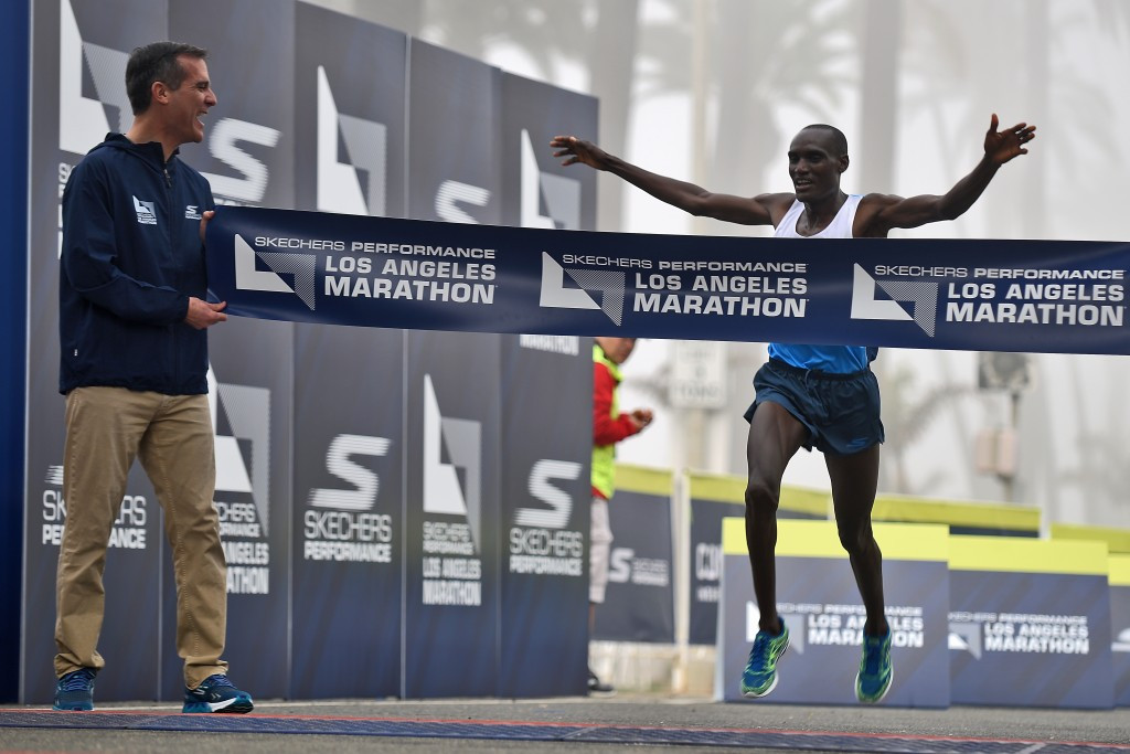 Kenya's Weldon Kirui will be defending the Los Angeles Marathon title he won last year ©Getty Images