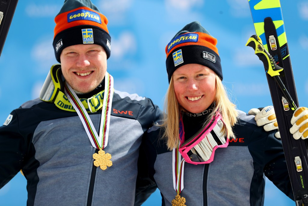 Sweden claimed a double ski cross success at the FIS Freestyle Ski and Snowboard World Championships in Sierra Nevada today as Victor Oehling Norberg and Sandra Naeslund won the respective men's and women's events ©Getty Images