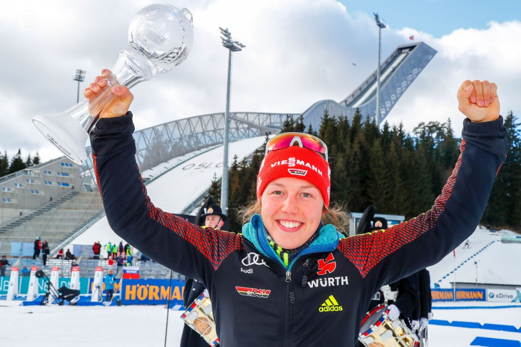 Dahlmeier recovers from horror show to win IBU World Cup pursuit title