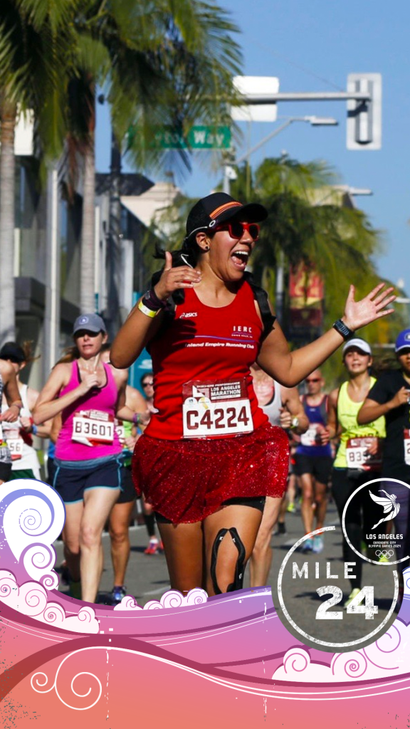 Snapchat users will be able to engage on social media while running in or watching the Los Angeles Marathon ©LA 2024