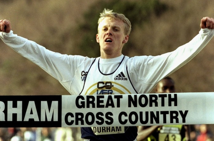 Ukraine's Sergey Lebid, pictured winning the Great North Cross Country in 2000, was the last European-born athlete to win a medal in the senior men's individual event at the World Championships, taking silver in 2001 ©Getty Images