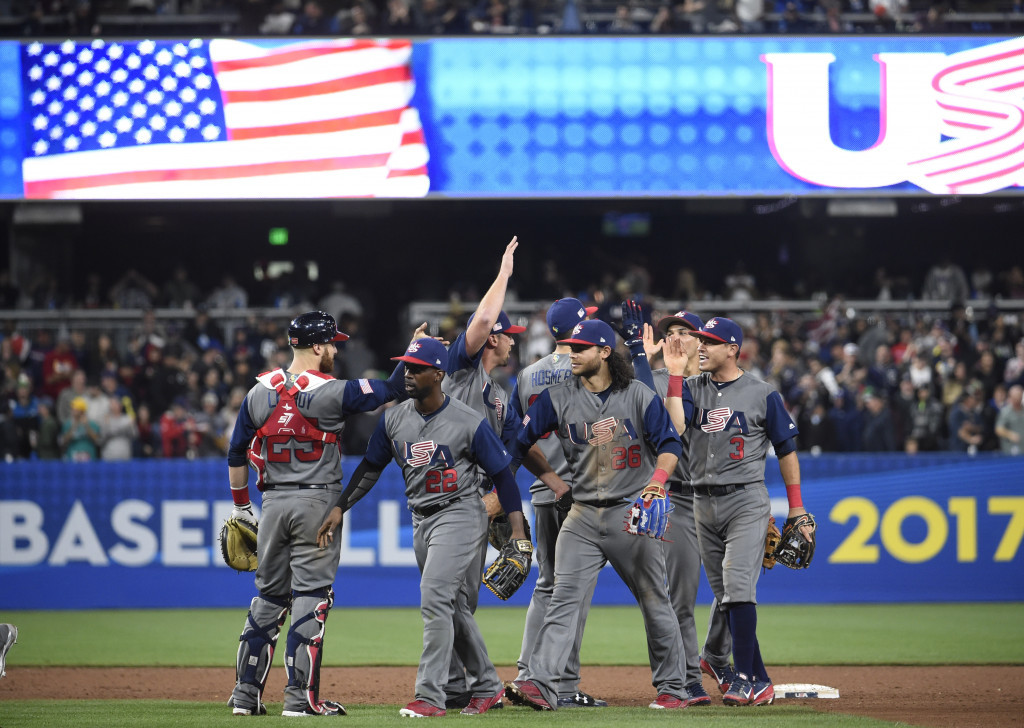 The United States have booked their place in the semi-finals of the 2017 World Baseball Classic ©Getty Images
