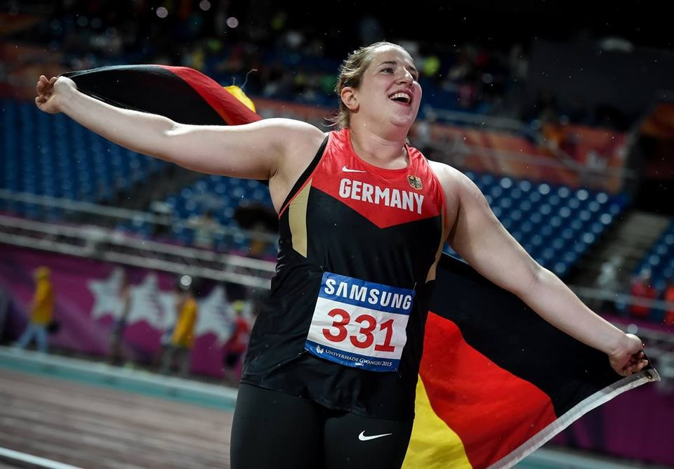 Shot putter Lena Urbaniak took one of three German athletics golds today ©Gwangju 2015
