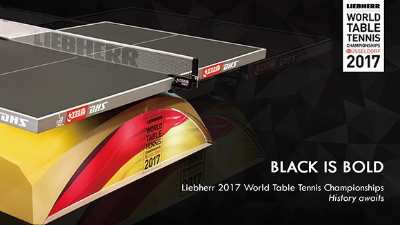 Black table unveiled for ITTF World Championships