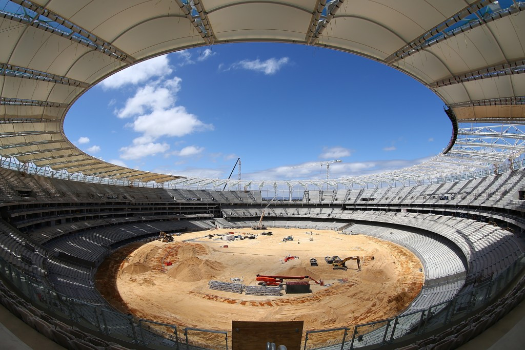 The newly built Perth Stadium is set to be completed in 2018 and could be the focal point in the bid ©Getty Images