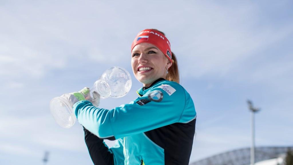 Gabriela Koukalová secured the mass start discipline crystal globe today ©IBU