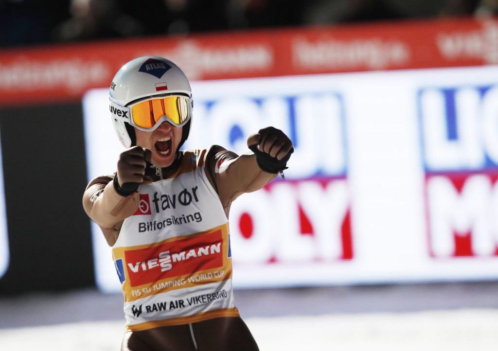 Kamil Stoch won today's competition in Vikersund ©Getty Images