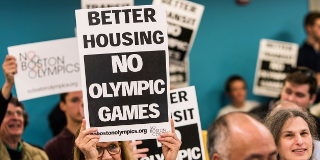 No Boston Olympics co-chairman Chris Dempsey spoke at the event ©Getty Images