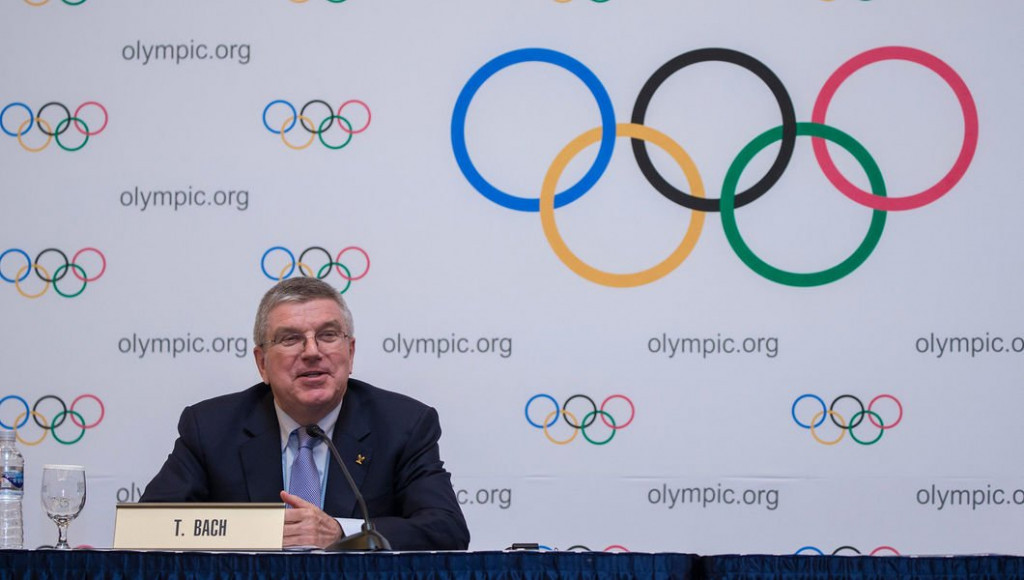 Thomas Bach was on confident form when speaking at the closing press conference in Pyeongchang ©IOC