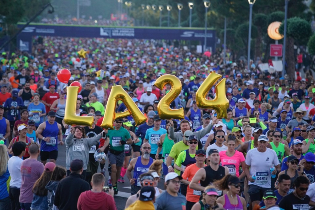 Los Angeles 2024 was promoted during the city's annual marathon today ©Los Angeles 2024