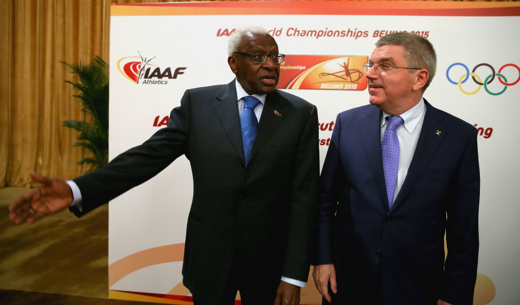 Russian doping and the corruption allegations surrounding the likes of former International Association of Athletics Federations President Lamine Diack, left, are other challenges facing the IOC ©Getty Images