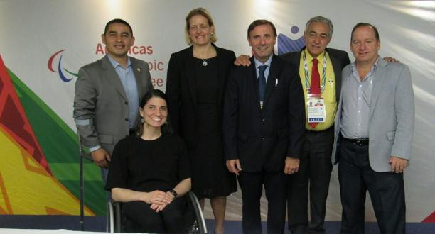 Jose Luis Campo, third from right, has been re-elected unopposed as President of the Americas Paralympic Committee ©IPC