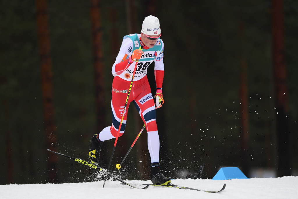Johannes Hoesflot Klaebo will look to seal the men's overall title in Falun ©Getty Images