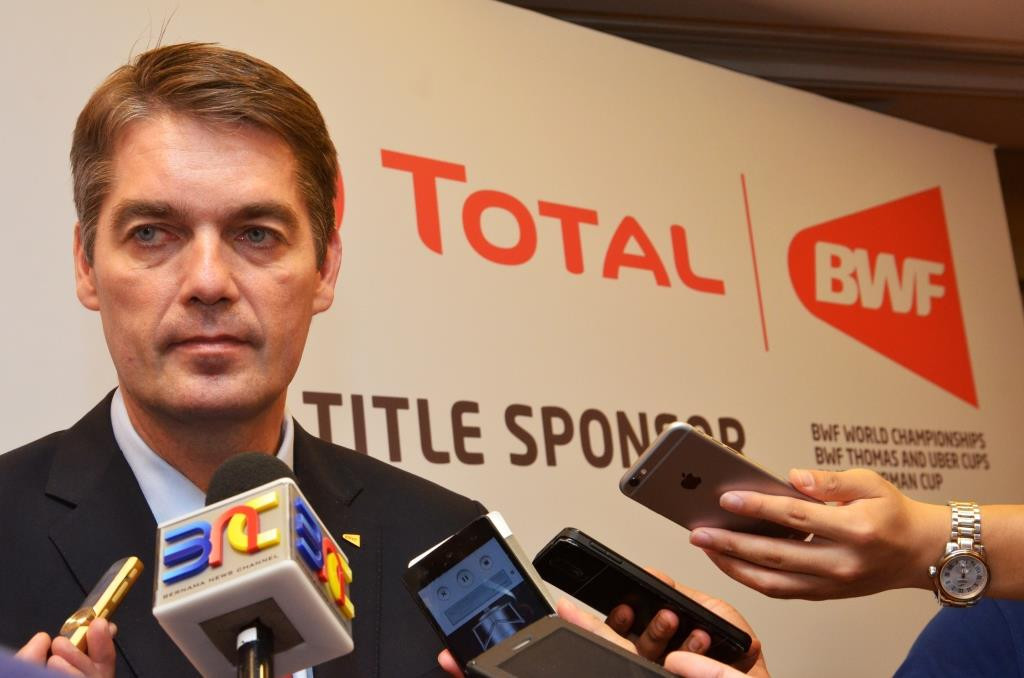 """BWF President Poul-Erik Høyer said the international governing body is """"pleased"""" to extend its partnership with Total ©BWF"""