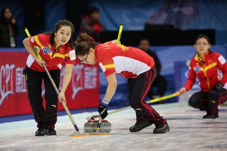 The two companies are also sponsoring the ongoing World Women's Curling Championship in Beijing ©World Curling