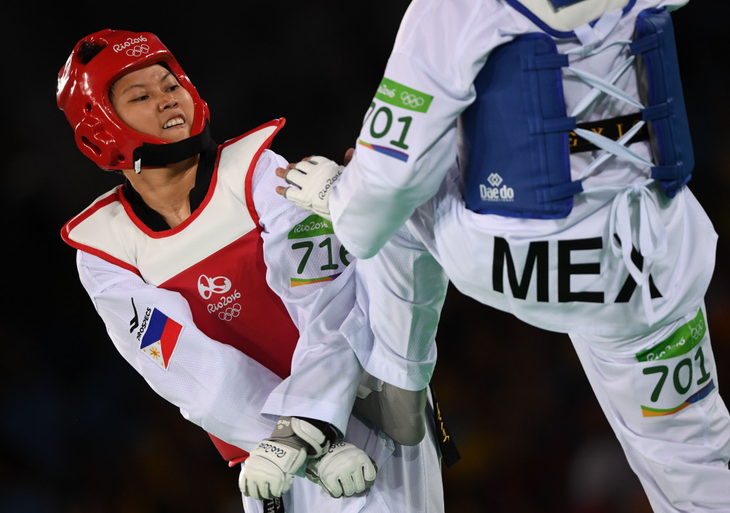 Kirstie Alora was The Philippines' sole representative in taekwondo at the Rio 2016 Olympic Games ©Getty Images